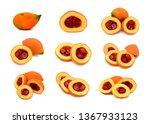 gac fruit isolated on white... | Shutterstock . vector #1367933123
