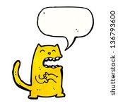 cartoon scheming cat | Shutterstock . vector #136793600