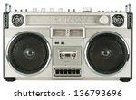 vintage radio cassette recorder ... | Shutterstock . vector #136793696