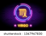 the virgo zodiac symbol ... | Shutterstock .eps vector #1367967830