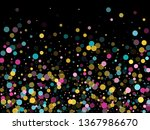 memphis round confetti airy... | Shutterstock .eps vector #1367986670