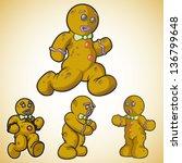 gingerbread man in different... | Shutterstock .eps vector #136799648