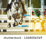 horse and rider in show jumping ... | Shutterstock . vector #1368006569