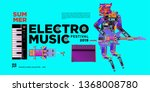 vector summer electro music... | Shutterstock .eps vector #1368008780