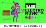 vector summer electro music... | Shutterstock .eps vector #1368008783
