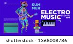 vector summer electro music... | Shutterstock .eps vector #1368008786