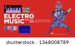 vector summer electro music... | Shutterstock .eps vector #1368008789