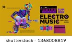vector summer electro music... | Shutterstock .eps vector #1368008819