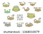 vector set. green skinned...   Shutterstock .eps vector #1368010079