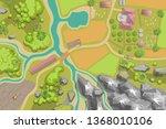 vector illustration. green farm ... | Shutterstock .eps vector #1368010106