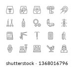 set of gynecology and... | Shutterstock .eps vector #1368016796
