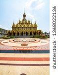 golden castle in tha sung... | Shutterstock . vector #1368022136