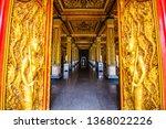 thai style decoration of golden ... | Shutterstock . vector #1368022226