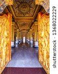 thai style decoration of golden ... | Shutterstock . vector #1368022229