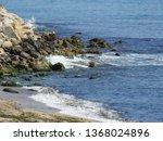 beach landscape  rocky seashore ...   Shutterstock . vector #1368024896