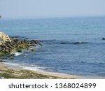 beach landscape  rocky seashore ...   Shutterstock . vector #1368024899