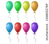 set of eight colored balloons | Shutterstock .eps vector #1368032789