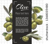 olive fruit vector menu design... | Shutterstock .eps vector #1368035480