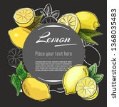 lemon vector hand drawn healthy ... | Shutterstock .eps vector #1368035483