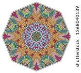 mandala flower decoration  hand ...   Shutterstock .eps vector #1368040139
