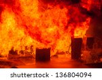 Gas Pumps On The Dock On Fire