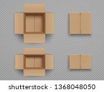 set of mockup closed and open... | Shutterstock .eps vector #1368048050