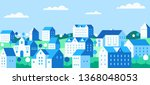 cityscape with buildings ... | Shutterstock .eps vector #1368048053