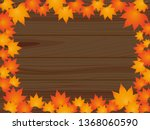 maple and tree frame | Shutterstock .eps vector #1368060590