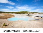 colorful hot water pool in the... | Shutterstock . vector #1368062660
