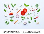 various fresh vegetables and... | Shutterstock . vector #1368078626