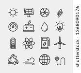 power and energy flat vector... | Shutterstock .eps vector #1368090176
