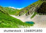 mountain pass water landscape.... | Shutterstock . vector #1368091850