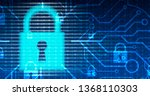 cybersecurity and information... | Shutterstock .eps vector #1368110303