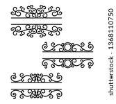 hand drawn dividers. break...   Shutterstock .eps vector #1368110750