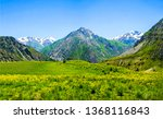 mountain green valley landscape.... | Shutterstock . vector #1368116843