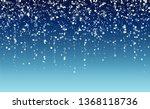 falling snow background.... | Shutterstock .eps vector #1368118736