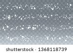 realistic snowflakes background.... | Shutterstock .eps vector #1368118739