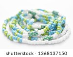 glass beads jewelry set on... | Shutterstock . vector #1368137150