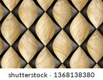 3d solid wood tiles with glossy ...   Shutterstock . vector #1368138380