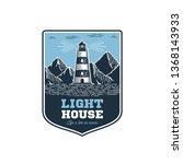 lighthouse emblem in vintage... | Shutterstock .eps vector #1368143933