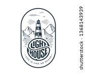lighthouse emblem in vintage... | Shutterstock .eps vector #1368143939