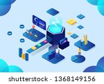 business vector intelligence... | Shutterstock .eps vector #1368149156