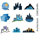 cityscape vector illustrations | Shutterstock .eps vector #136816484