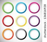 set of vector buttons | Shutterstock .eps vector #136816928