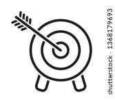 target icon. arrow hitting a... | Shutterstock .eps vector #1368179693