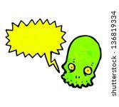shrieking skull cartoon | Shutterstock . vector #136819334