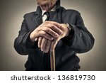 old man with a baton | Shutterstock . vector #136819730