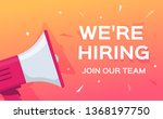 we are hiring vector banner....