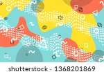 abstract fun background. colour ... | Shutterstock .eps vector #1368201869