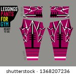 leggings pants for gym | Shutterstock .eps vector #1368207236